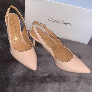 NIB Calvin Klein Giona Blush Slingback Size 10